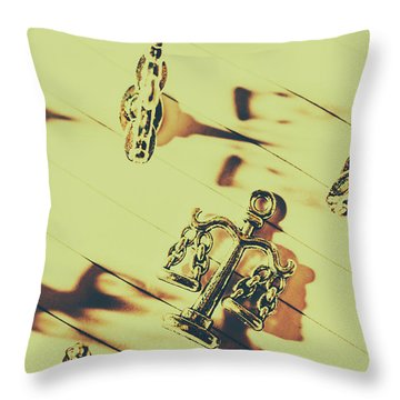 A Courthouse Judgement Throw Pillow