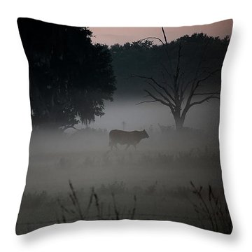 A Cow In The Clouds Throw Pillow