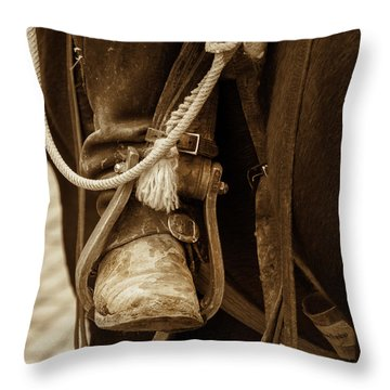A Cowboy's Boot Throw Pillow