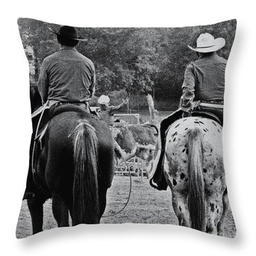 A Cowboys Life Throw Pillow