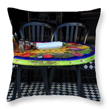 A Cozy Table For Two Throw Pillow
