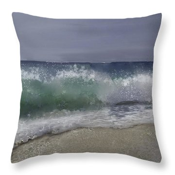 A Crashing Wave Throw Pillow