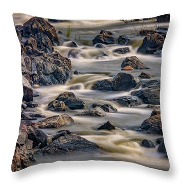 A Creek To The Side Throw Pillow