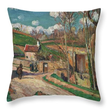 A Crossroads At The Hermitage Throw Pillow