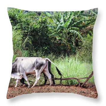 A Cuban Tractor Throw Pillow