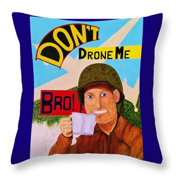 Throw Pillow featuring the painting A Cup Of Joe by Rand Swift
