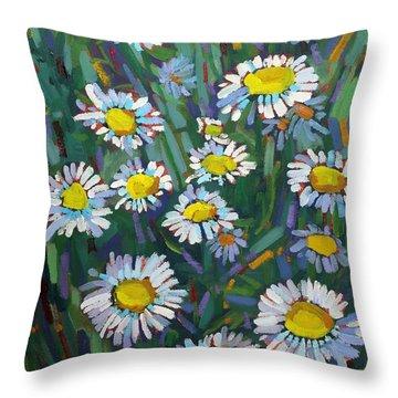 A Daisy A Day Throw Pillow