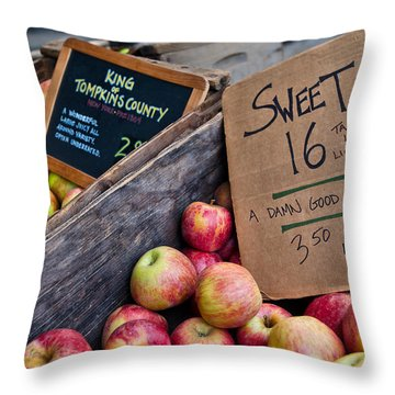 A Damn Good Apple Throw Pillow