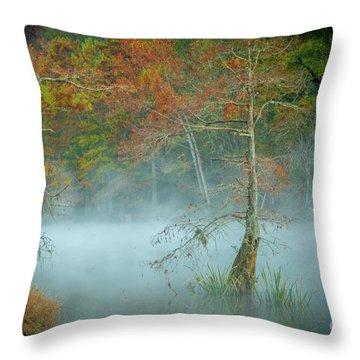 A Dancing Cypress Throw Pillow
