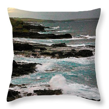 A Dangerous Coastline Throw Pillow by Blair Stuart
