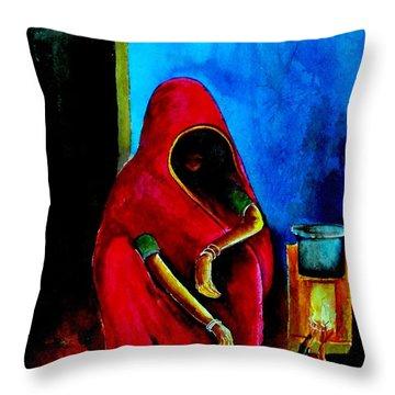 A Dark Corner Throw Pillow