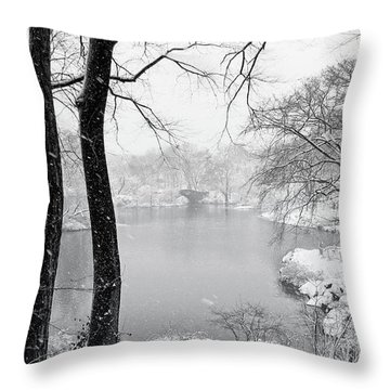 A Dash Of Red Throw Pillow by Nishanth Gopinathan