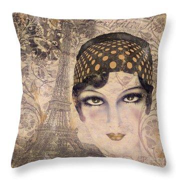 A Date With Paris Throw Pillow