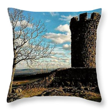 A Day At  Craigs  Castle   Throw Pillow