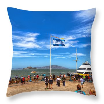 Throw Pillow featuring the photograph A Day At Pier 39 by John M Bailey