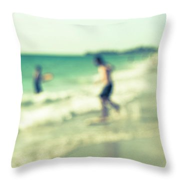 Throw Pillow featuring the photograph a day at the beach III by Hannes Cmarits
