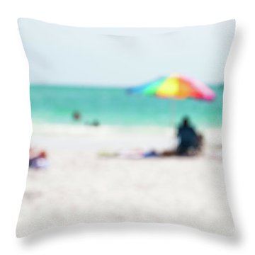 Throw Pillow featuring the photograph a day at the beach IV by Hannes Cmarits