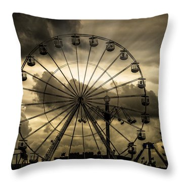 Throw Pillow featuring the photograph A Day At The Fair by Chris Lord