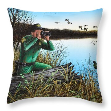 A Day At The Office - Icoo Throw Pillow