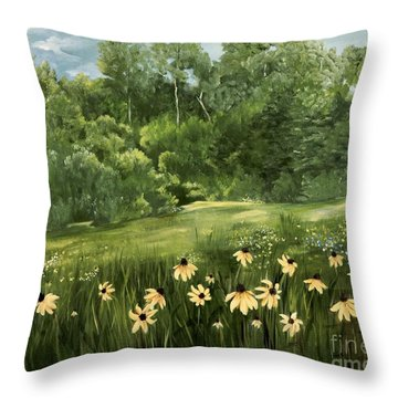 A Day At The Park Throw Pillow by Carol Sweetwood