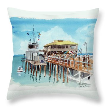 A Day At The Shore Throw Pillow by John Crowther