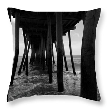 A Day At Virginia Beach #2 Throw Pillow by Rebecca Davis