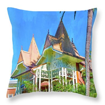 Throw Pillow featuring the photograph A Day In Adventureland by Mark Andrew Thomas