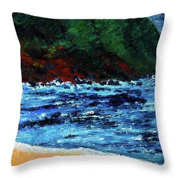 A Day At The Lake In Austin Texas Throw Pillow