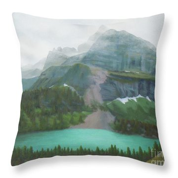 A Day In Glacier National Park Throw Pillow