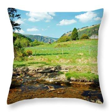 A Day In Glendalough Throw Pillow by Martina Fagan