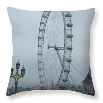 A Day In London Throw Pillow by Tjokez Vun Borg