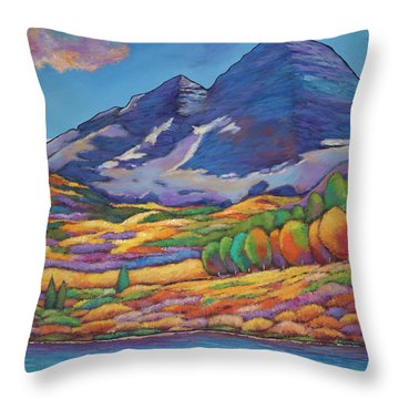 A Day In The Aspens Throw Pillow