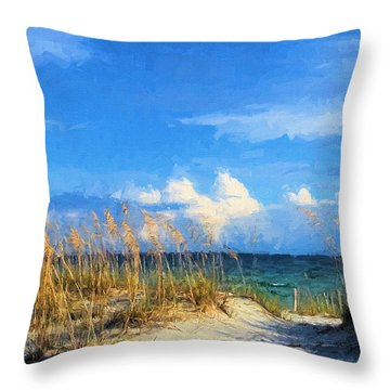 A Day In The Life In South Walton Throw Pillow