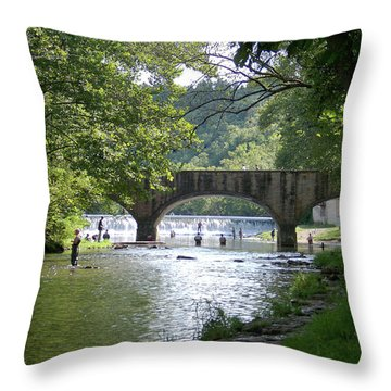 A Day In The Ozarks Throw Pillow by Julie Grace