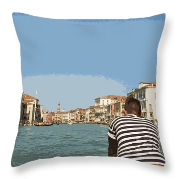A Day In Venice Throw Pillow