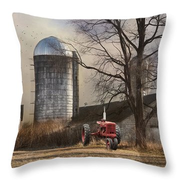 Throw Pillow featuring the photograph A Day Off by Robin-lee Vieira