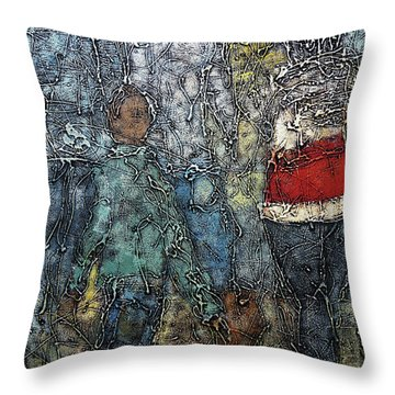 A Day Out Throw Pillow