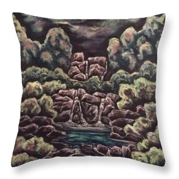 Throw Pillow featuring the painting A Day To Remember by Cheryl Pettigrew