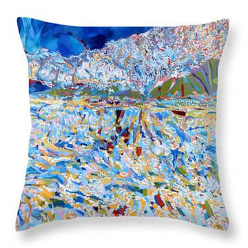 Throw Pillow featuring the painting A Day To Remember by Linda Cull