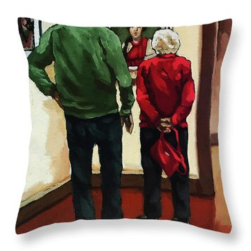 A Day With Mom Throw Pillow