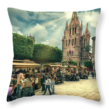 A Day With The Family Throw Pillow