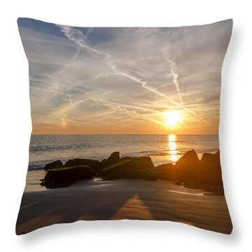 A Days End  Throw Pillow