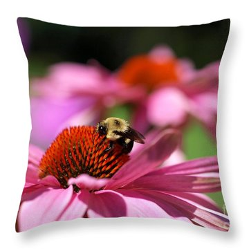 A Day's Work Throw Pillow by Susan  Dimitrakopoulos