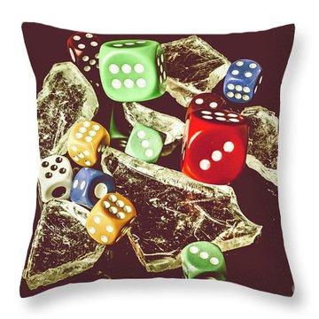 A Dealers Cut Throw Pillow