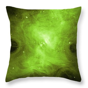 Throw Pillow featuring the photograph A Death Star's Ghostly Glow by Nasa