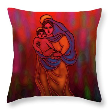 A December Dream Throw Pillow by Latha Gokuldas Panicker