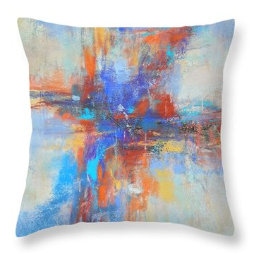 A Deep Breath Throw Pillow by Becky Chappell
