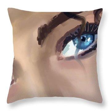 A Deeper Blue Throw Pillow by Steven Lebron Langston