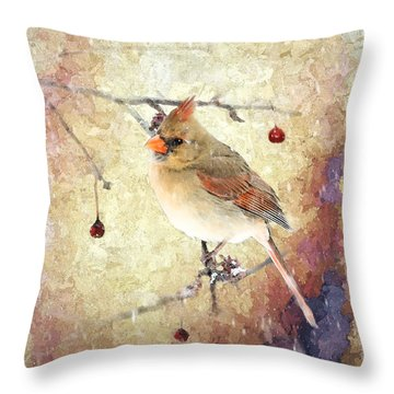 Throw Pillow featuring the photograph A Delicate Thing by Betty LaRue