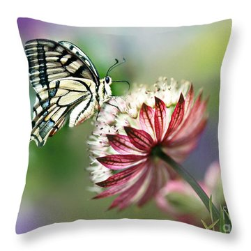 A Delicate Touch Throw Pillow